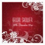 Remolinos florales de la ducha nupcial elegante ro invitación personalizada