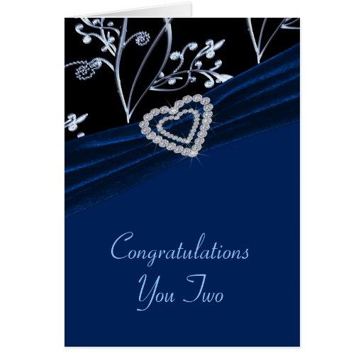 Remolinos florales del corazón azul de la tarjeta de felicitación