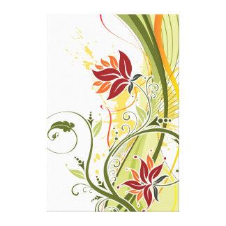 Remolinos florales hermosos impresiones en lienzo estiradas