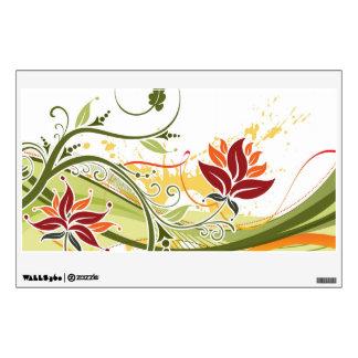 Remolinos florales hermosos vinilo adhesivo