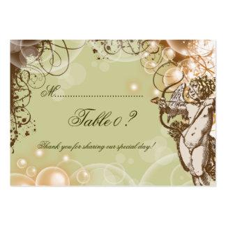 Remolinos florales que casan la tarjeta del número plantilla de tarjeta personal