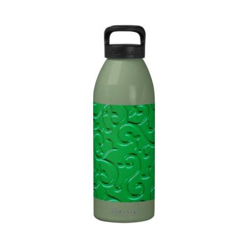 Remolinos grabados en relieve 4 botella de agua
