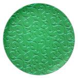 Remolinos grabados en relieve 4 platos