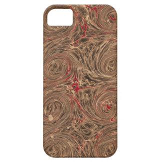 Remolinos hermosos de Brown del papel veteado de Funda Para iPhone SE/5/5s