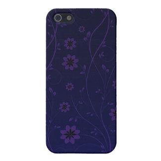 Remolinos hermosos del flor y del rosa pern iPhone 5 fundas