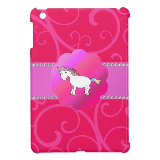 Remolinos lindos del rosa del unicornio