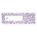 Remolinos modernos del precio elegante púrpuras plantilla de tarjeta de visita