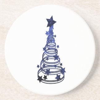 Remolinos n blue png abigarrado estrella del árbol posavaso para bebida