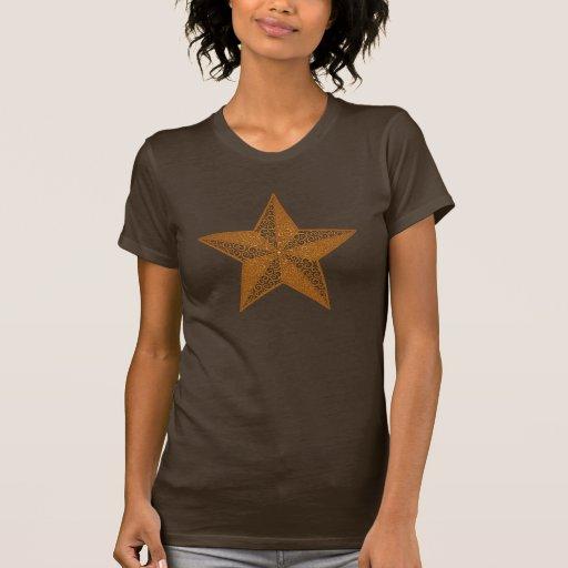 Remolinos náuticos de la estrella - marrón playera