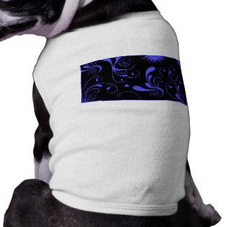 remolinos negros del azul ropa perro