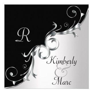 Remolinos negros y de plata elegantes que casan la