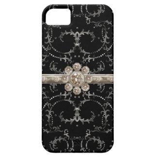 Remolinos octagonales del diamante de Bling de la iPhone 5 Carcasas