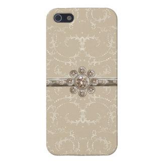 Remolinos octagonales del diamante de Bling de la  iPhone 5 Fundas
