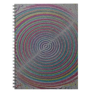 REMOLINOS PIXELATED A COLORIDA de la PLAYA de SAND Cuaderno