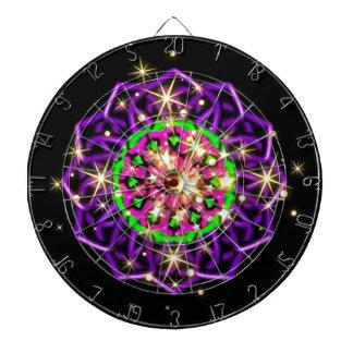 Remolinos púrpuras del caleidoscopio del deslumbra tabla dardos