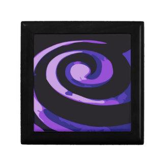 Remolinos púrpuras del huracán cajas de joyas