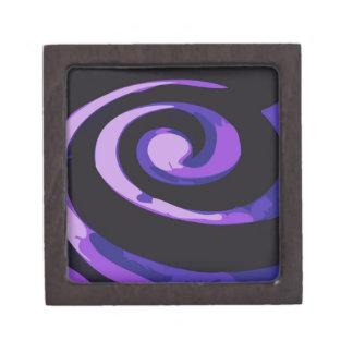Remolinos púrpuras del huracán cajas de regalo de calidad