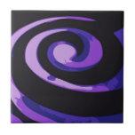 Remolinos púrpuras del huracán teja cerámica