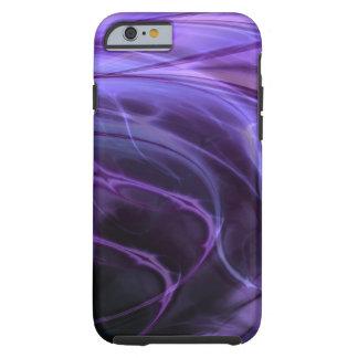Remolinos púrpuras funda de iPhone 6 tough