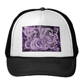Remolinos púrpuras gorras