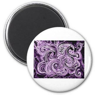Remolinos púrpuras iman de frigorífico