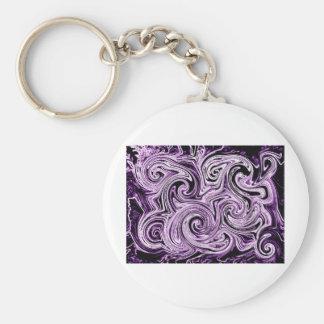 Remolinos púrpuras llaveros