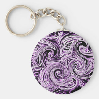 Remolinos púrpuras llaveros personalizados