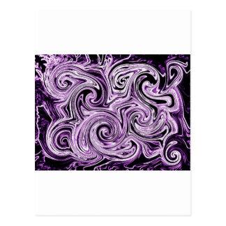 Remolinos púrpuras tarjeta postal