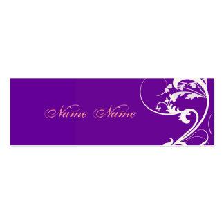 Remolinos púrpuras vibrantes de la fantasía de la tarjetas personales