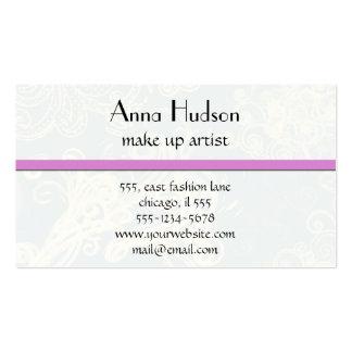 Remolinos rizados (remolinos curvados) - blanco plantilla de tarjeta de negocio