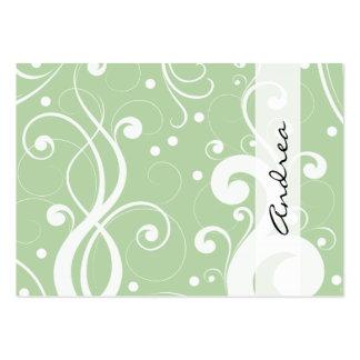 Remolinos rizados (remolinos curvados) - blanco plantillas de tarjeta de negocio
