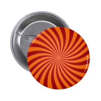 Remolinos rojos del naranja chapa redonda 5 cm