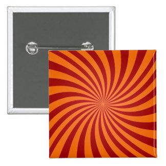 Remolinos rojos del naranja chapa cuadrada 5 cm