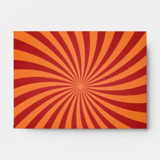 Remolinos rojos del naranja sobres