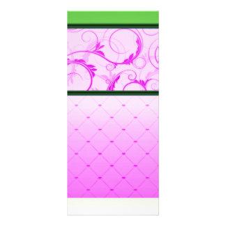 Remolinos rosáceos inspiradores y modelo pelado tarjeta publicitaria