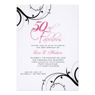 ¡Remolinos rosados 50.os del negro y fabuloso! Cum Comunicados
