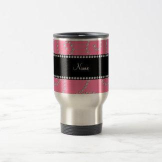 Remolinos rosados conocidos personalizados del dia tazas