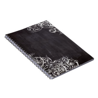 remolinos rústicos del arte elegante de la pizarra spiral notebook