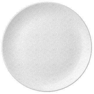 Remolinos sutiles del damasco plato de cerámica