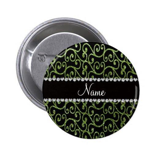 Remolinos verdes claros conocidos personalizados d pins