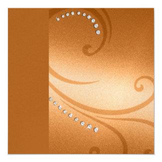Remolinos y cristales del reflejo del cuadrado de invitaciones personalizada