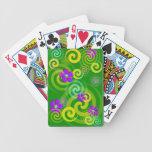 Remolinos y flores barajas de cartas