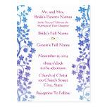 Remolinos y flores del Invitación-Ciruelo del boda Postal