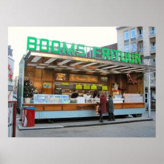 ¡Remolque belga de la comida, grandes alimentos de Póster