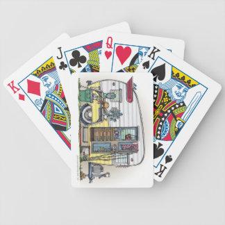 Remolque de campista de Shasta rv Baraja Cartas De Poker