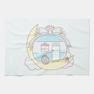 Remolque de campista ideal del vintage toalla de mano