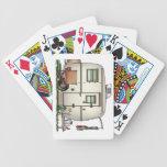 Remolque de cristal del viaje del campista del baraja cartas de poker