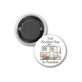 Remolque de cristal del viaje del campista del hue imán redondo 3 cm