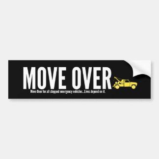 Remolque de movimiento sobre pegatina para el pegatina para coche