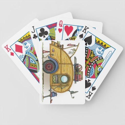 Remolque lindo del viaje del campista de la lágrim baraja cartas de poker